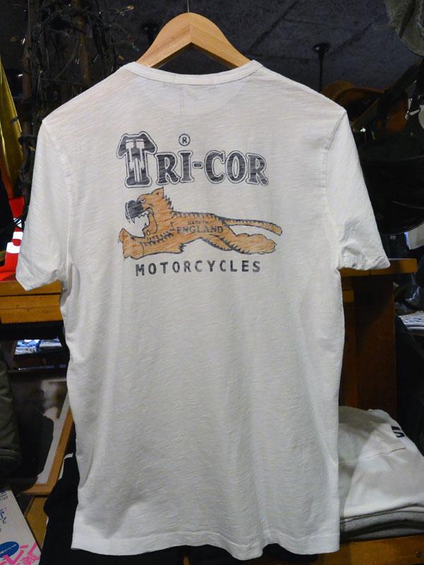 画像2:  Johnson Motors'Inc TRICOR S/S tee ジョンソンモータース半袖Tシャツ OPTIC WHITE