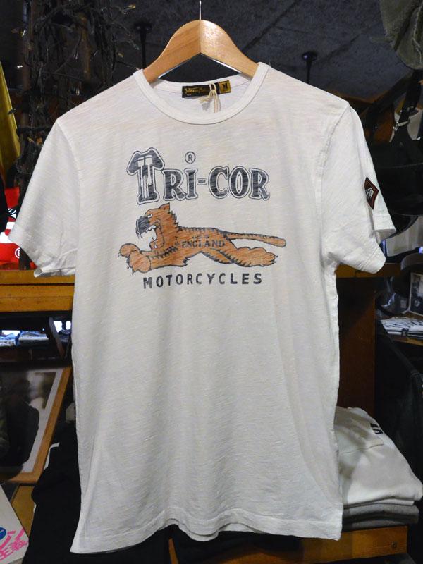 画像1:  Johnson Motors'Inc TRICOR S/S tee ジョンソンモータース半袖Tシャツ OPTIC WHITE