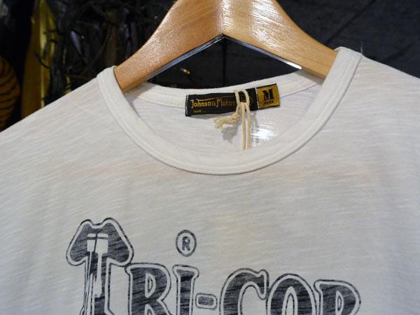 画像3:  Johnson Motors'Inc TRICOR S/S tee ジョンソンモータース半袖Tシャツ OPTIC WHITE
