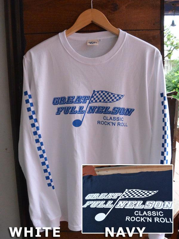 画像1: FULLNELSON CHECKER FLAG L/S tee フルネルソンチェッカーフラッグ長袖Tシャツ