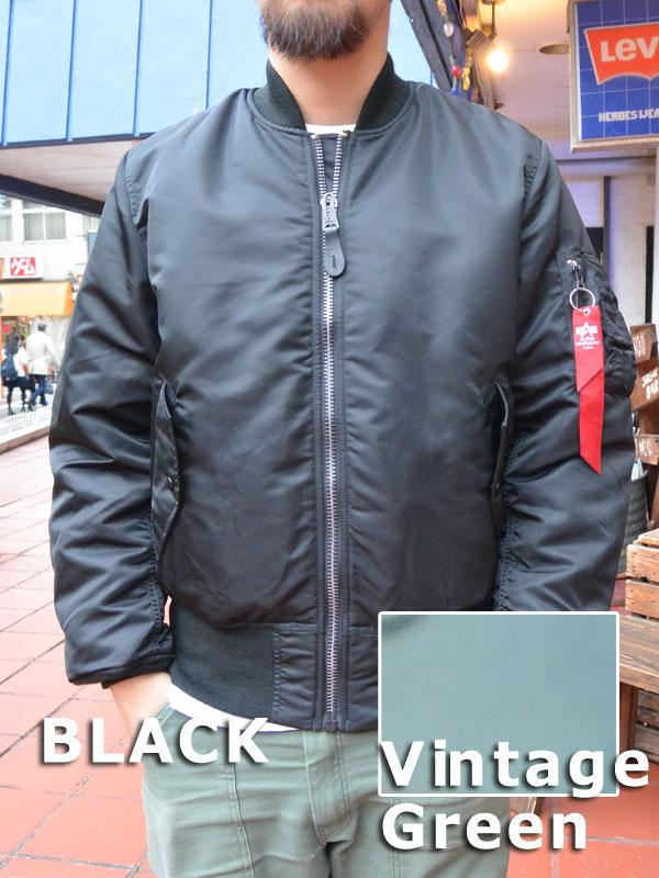 画像1: ALPHA MA-1 アメリカ国内モデル 2000 VTG GREEN & BLACK