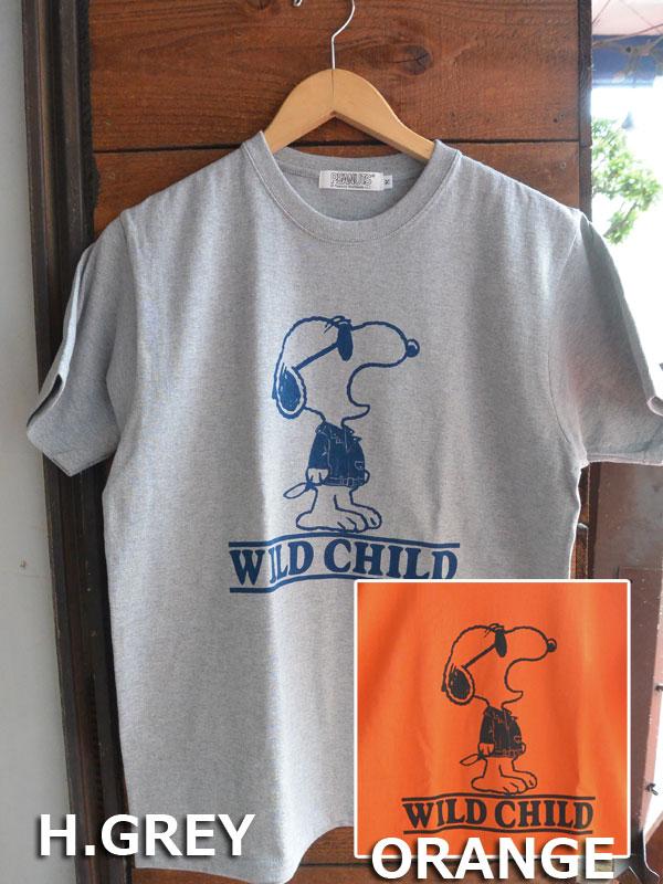 画像1: FULLNELSON×PEANUTS Tee フルネルソン×ピーナッツ スヌーピーTシャツ WILD CHILD