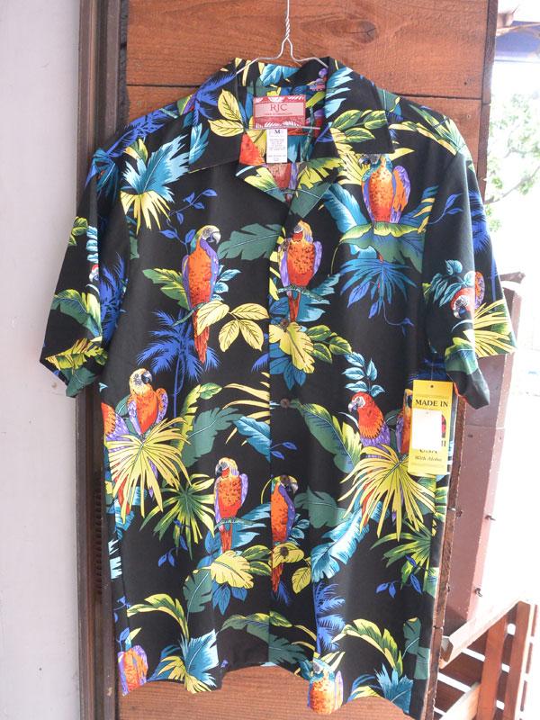 画像1: Made in USA Robert J. Clancey Aloha Shirts コットンアロハシャツ Max Payne– Black