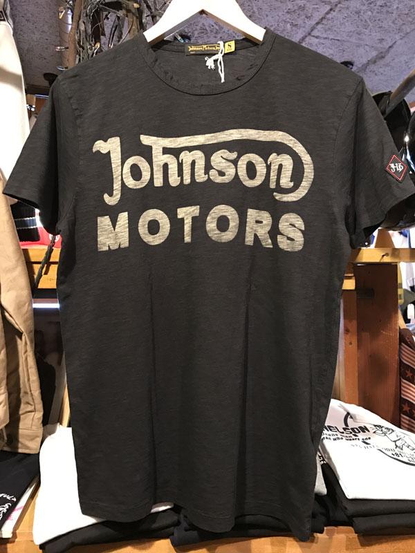 画像1:  Johnson Motors'Inc CLASSIC38 S/S tee ジョンソンモータース半袖TシャツOILED BLACK