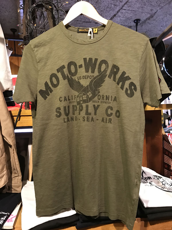 画像1:  Johnson Motors'Inc MOTO-SUPPLY S/S tee ジョンソンモータース半袖TシャツOLIVE DRAB