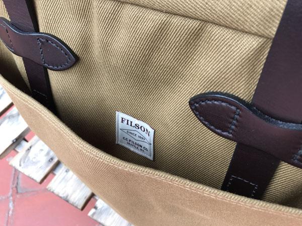 画像4: FILSON Tote Bag With Zipper フィルソン ジッパー付きトートバッグ