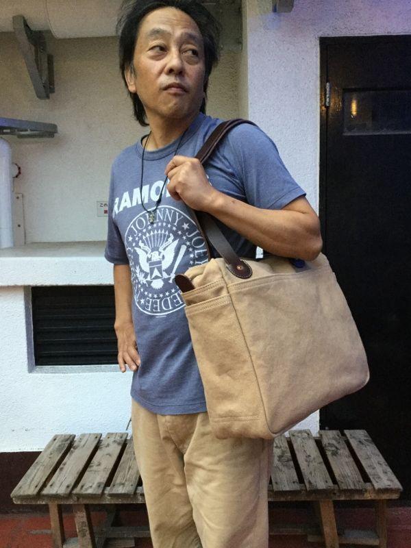 画像1: Bag Blow キャンバストートZIPトート
