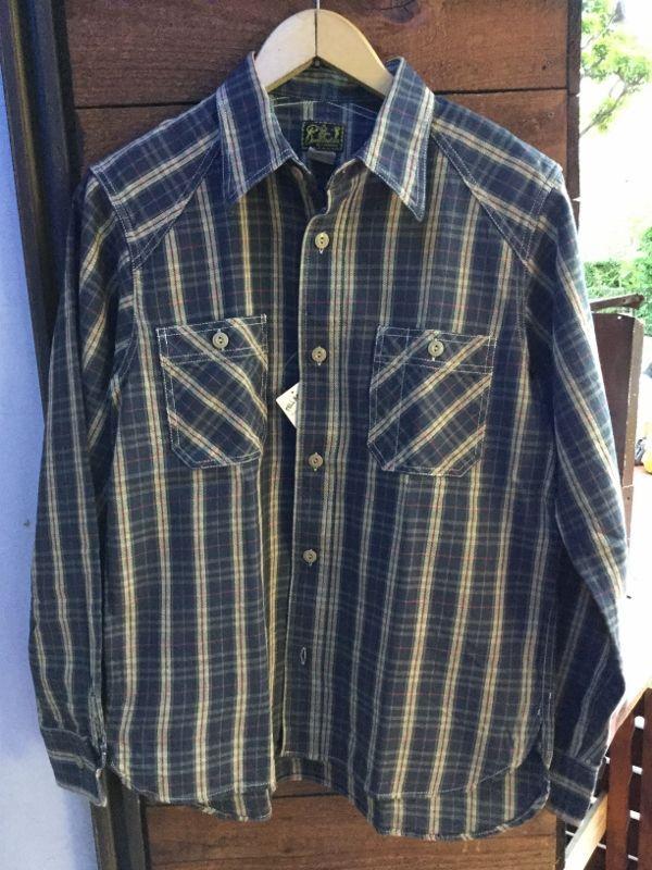 画像1: Cushman チェックワークシャツL/S