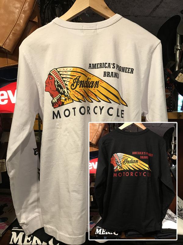 画像1: INDIAN MOTORCYCLE インディアンモーターサイクル 長袖Tシャツ IM67737