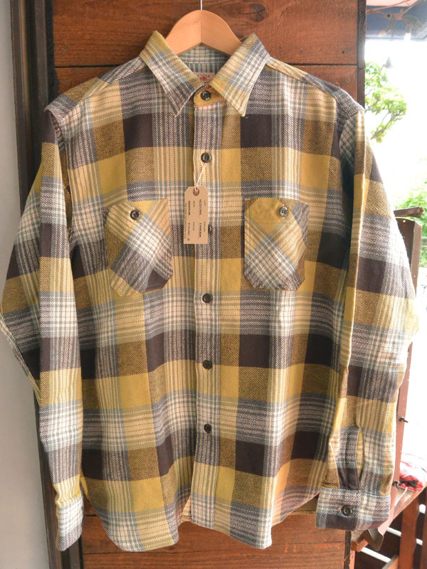 画像1: SUGARCANE TWILL CHECK L/S WORK SHIRTシュガーケーン ツイルチェックワークシャツ SC27705-CRM
