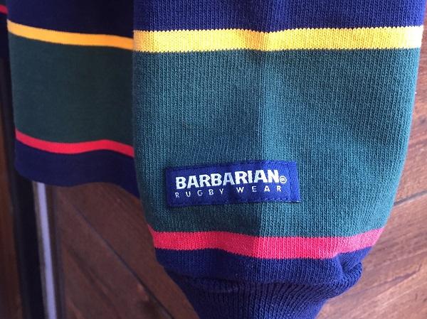 画像4: バーバリアン ラガーシャツ BARBARIAN RUGBY WEAR Navy/Gold/Green