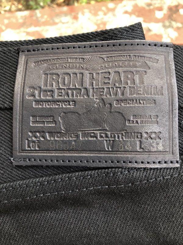 画像3: IRON HEART 9634Z  21oz黒鎧デニムストレート