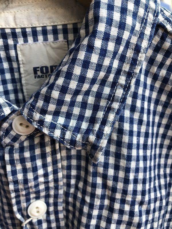 画像3: FOB FACTORY エフオービーファクトリー 長袖ギンガムチェックシャツ