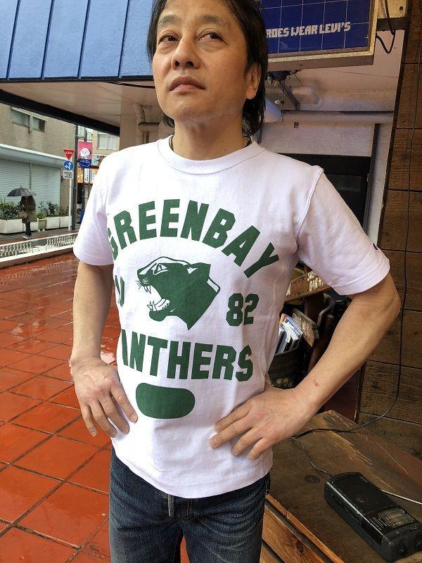 画像1: BUDDY別注 Champion リバースウィーブTシャツ 1982 GREEN BAY PANTHERS