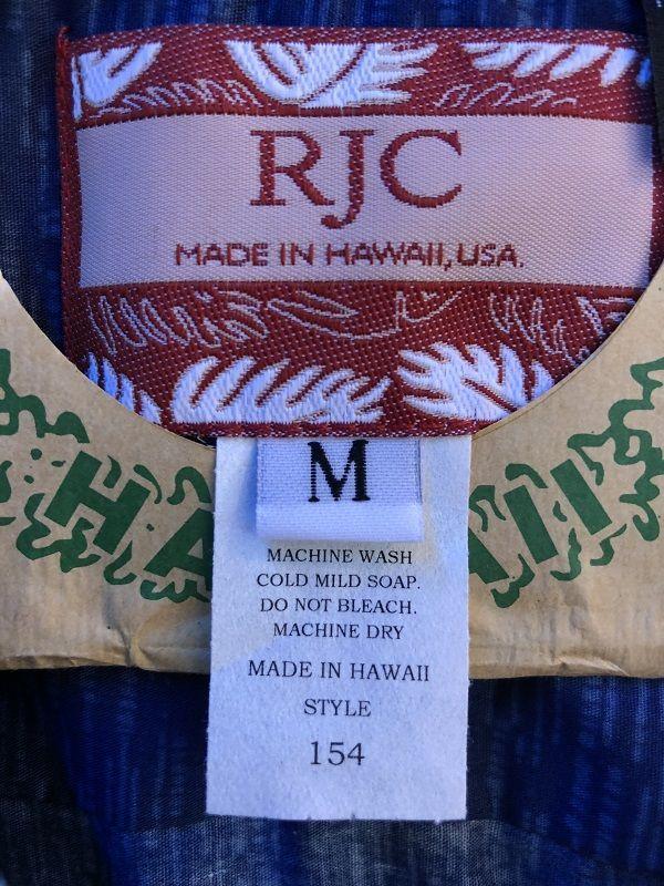 画像2: Made in USA Robert J. Clancey Aloha Shirts コットンアロハシャツ wood BLUE
