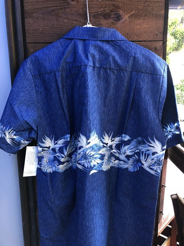 画像3: Made in USA Robert J. Clancey Aloha Shirts コットンアロハシャツ wood BLUE