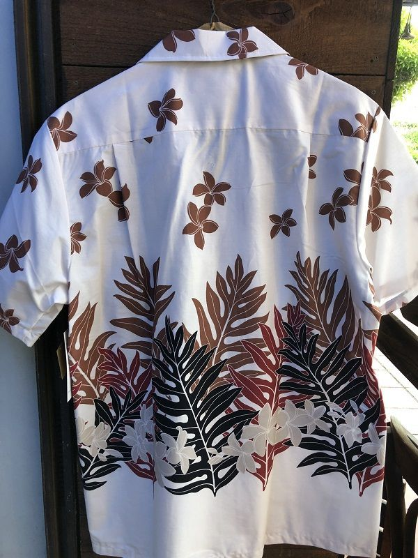 画像3: Made in USA Robert J. Clancey Aloha Shirts コットンアロハシャツ leaf WHITE