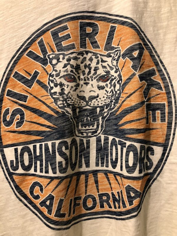 画像3: Johnson Motors'Inc SILVERLAKE CAT S/S tee ジョンソンモータース半袖Tシャツ DIRTY WHITE