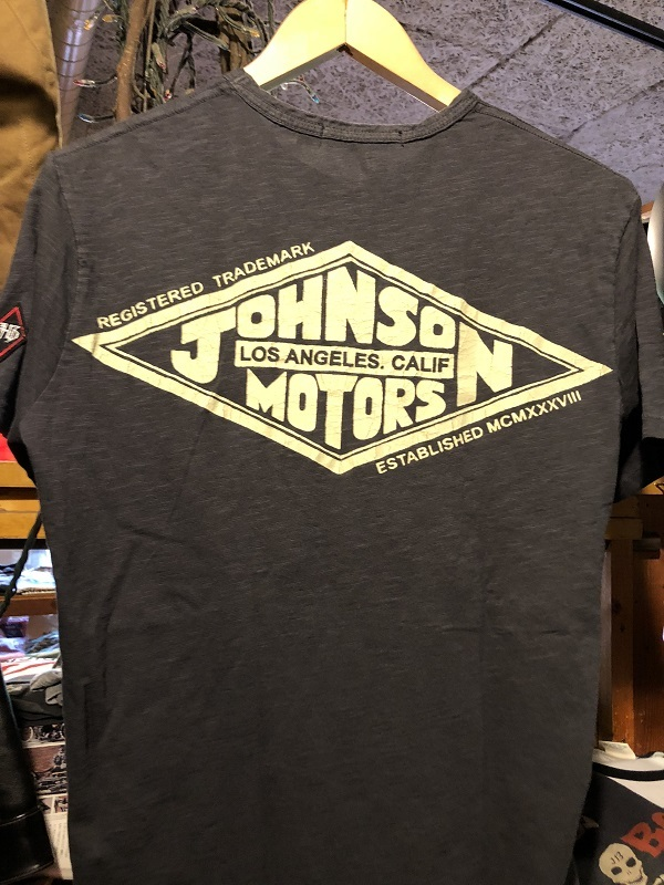 画像2: Johnson Motors'Inc DIAMOND TM S/S tee ジョンソンモータース半袖Tシャツ GUNSHIP GRAY