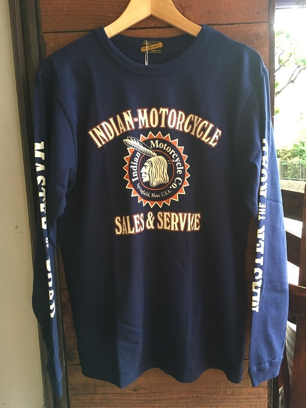 """画像3: INDIAN MOTORCYCLE  ロンT  """"INDIAN HEAD""""  インディアンモーターサイクル"""