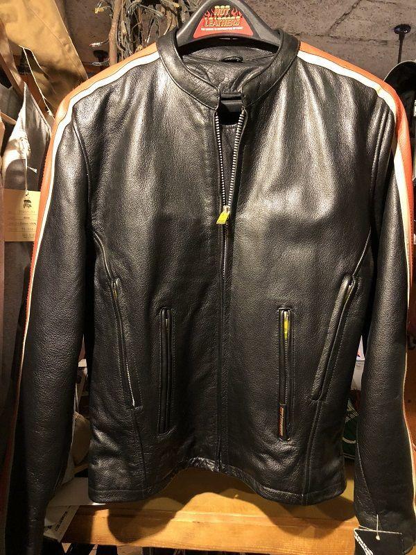 画像1: Hot leather シングルライダースジャケット