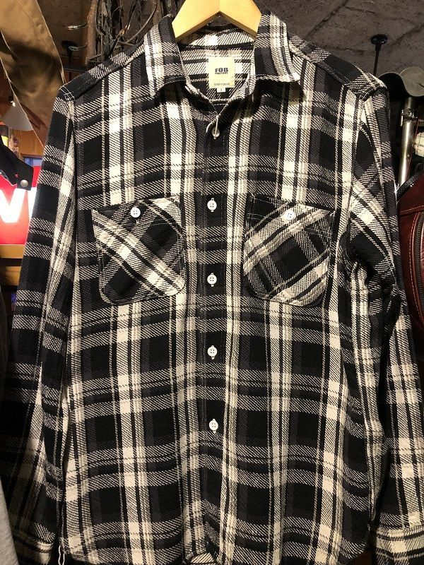 画像1: FOB FACTORY HEAVY NEL WORK SHIRTS