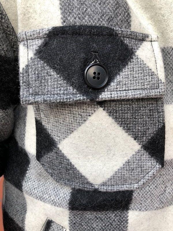 画像4: FULLNELSON フルネルソン オリジナルウールCPOジャケットカリフォルニア ホワイト×ブラック