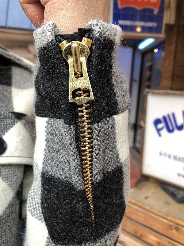 画像3: FULLNELSON フルネルソン オリジナルウールCPOジャケットカリフォルニア ホワイト×ブラック