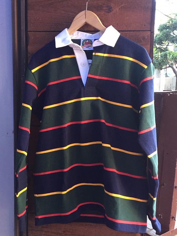 画像1: BARBARIAN ラガーシャツ NVY/GLD/BOT/RED