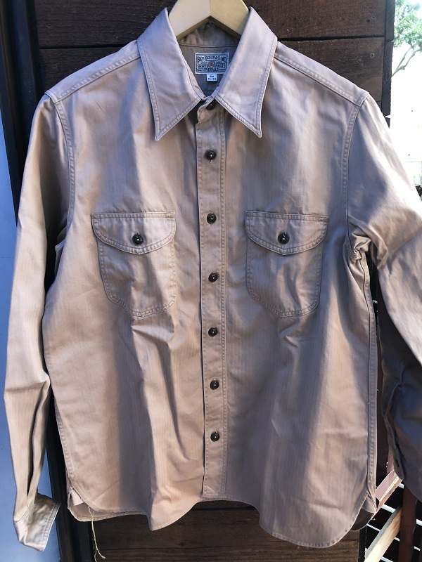画像1: BUZZ RICKSONS HERRINGBONE L/S WORK SHIRT