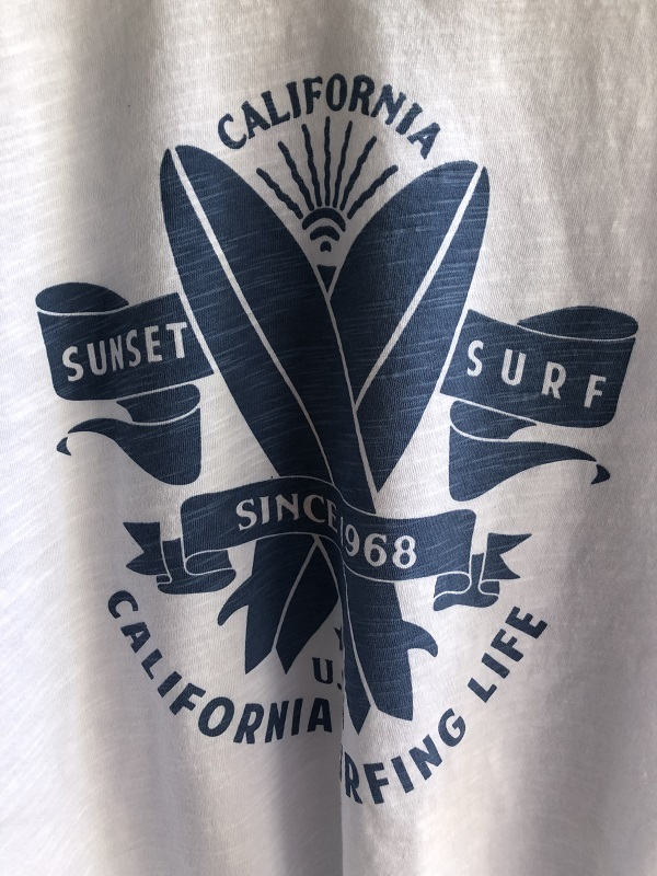 画像2: Sunset surf SUNSET LOGO WHITE