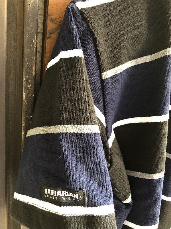 画像3: BARBARIAN 半袖ボーダーシャツ BLACK×NAVY
