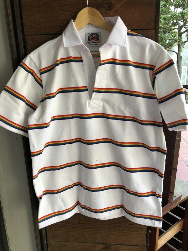 画像1: BARBARIAN 半袖ボーダーシャツ WHITE&NAVY