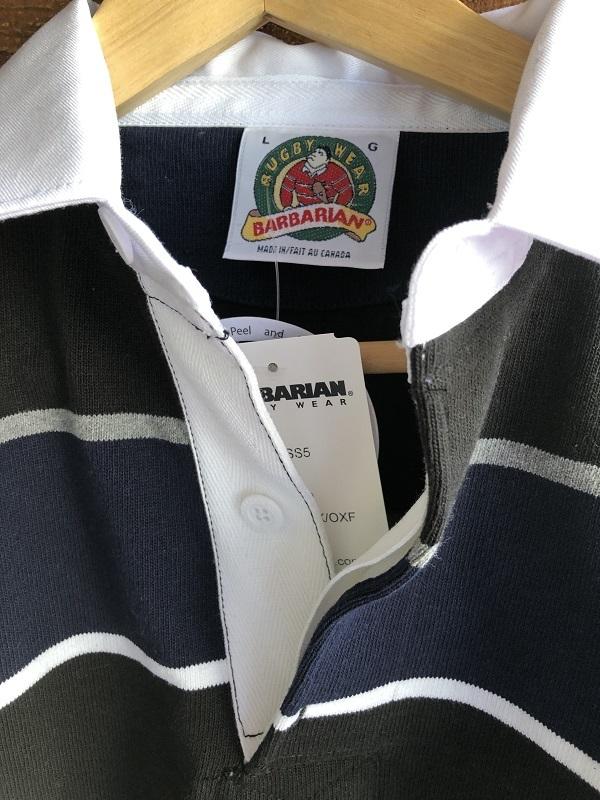 画像2: BARBARIAN 半袖ボーダーシャツ BLACK×NAVY