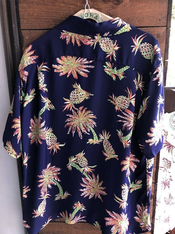 "画像4: SUN SURF サンサーフ アロハシャツ S/S ""STUDDED WITH PALM TREE AND PINEAPPLE"" NAVY"