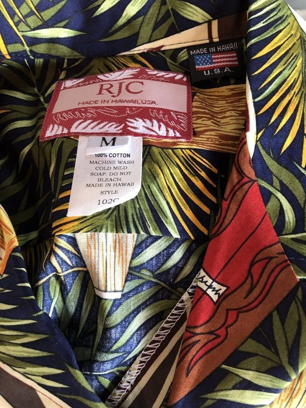 画像3: Made in USA Robert J. Clancey Aloha Shirts コットンアロハシャツ leaf surf board