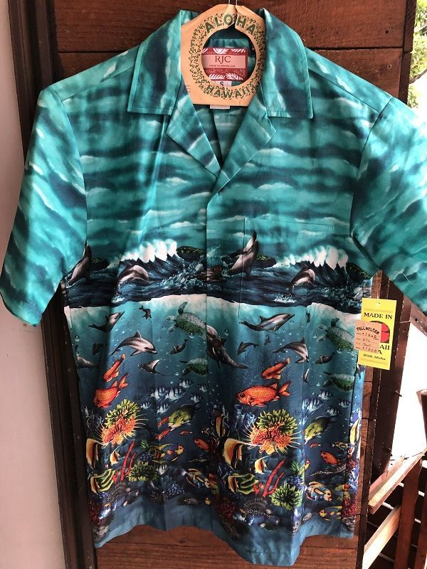 画像1: Made in USA Robert J. Clancey Aloha Shirts コットンアロハシャツ Ocean