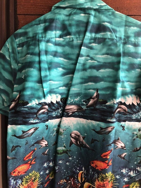 画像3: Made in USA Robert J. Clancey Aloha Shirts コットンアロハシャツ Ocean