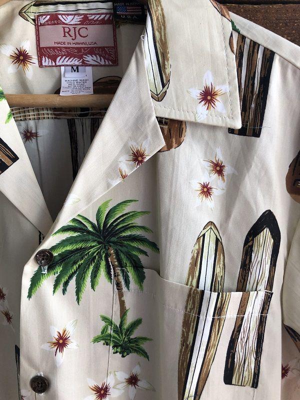 画像2: Made in USA Robert J. Clancey Aloha Shirts コットンアロハシャツ board&ウクレレ アイボリー