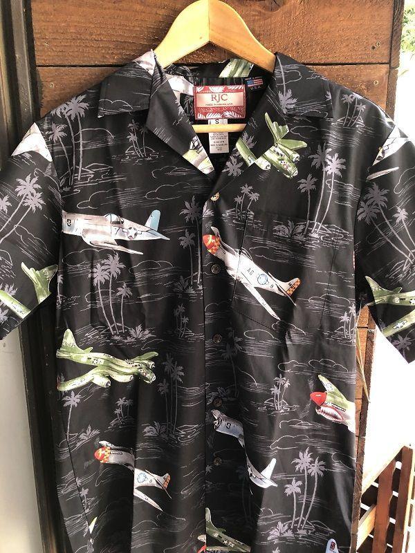 画像1: Made in USA Robert J. Clancey Aloha Shirts コットンアロハシャツ airplane
