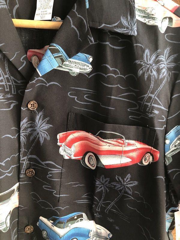 画像2: Made in USA Robert J. Clancey Aloha Shirts コットンアロハシャツ car BLACK