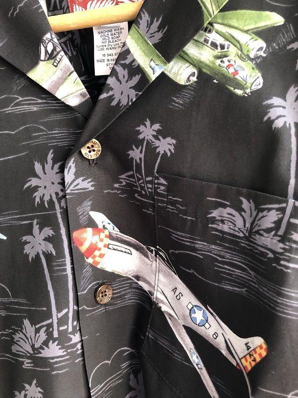 画像2: Made in USA Robert J. Clancey Aloha Shirts コットンアロハシャツ airplane