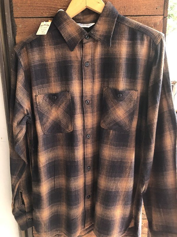 画像1: FIVE BROTHER オンブレーチェックネルシャツ