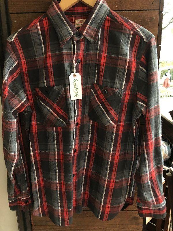画像1: SUGAR CANE 長袖ワークシャツ
