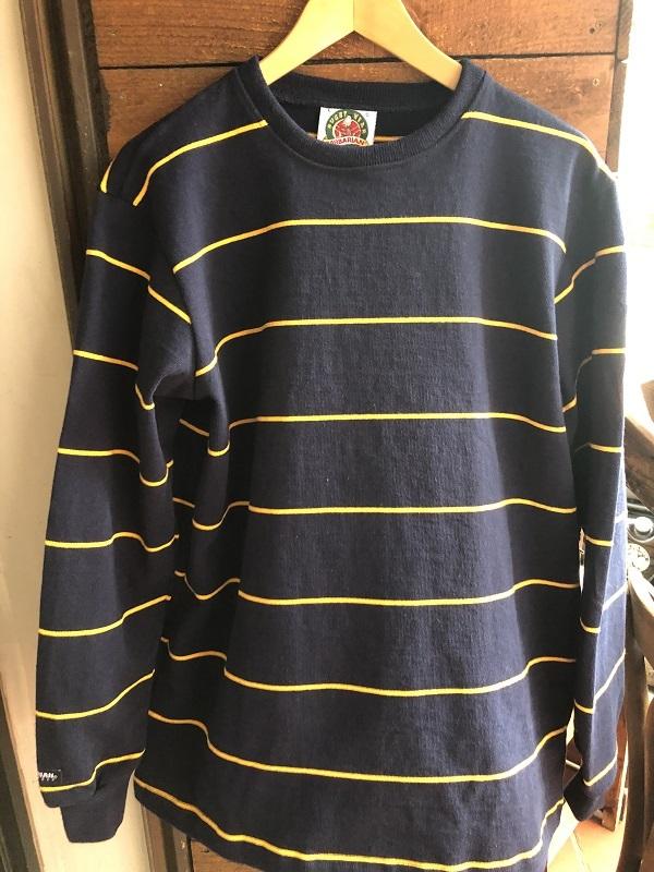 画像1: BARBARIAN 12オンス ヘビーウェイト長袖Tシャツ NAVY/BLACK