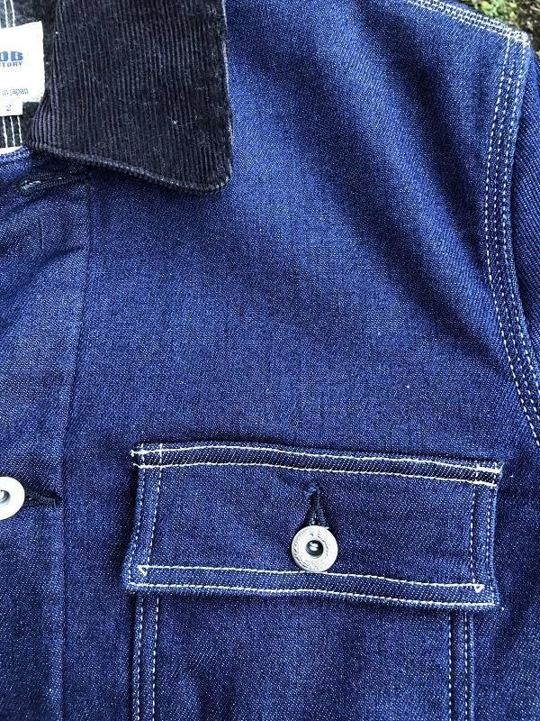 画像2: FOB FACTORY デニム カバーオールジャケット