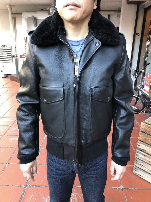 画像1: Schott 174US LEATHER BOMBER JACKET