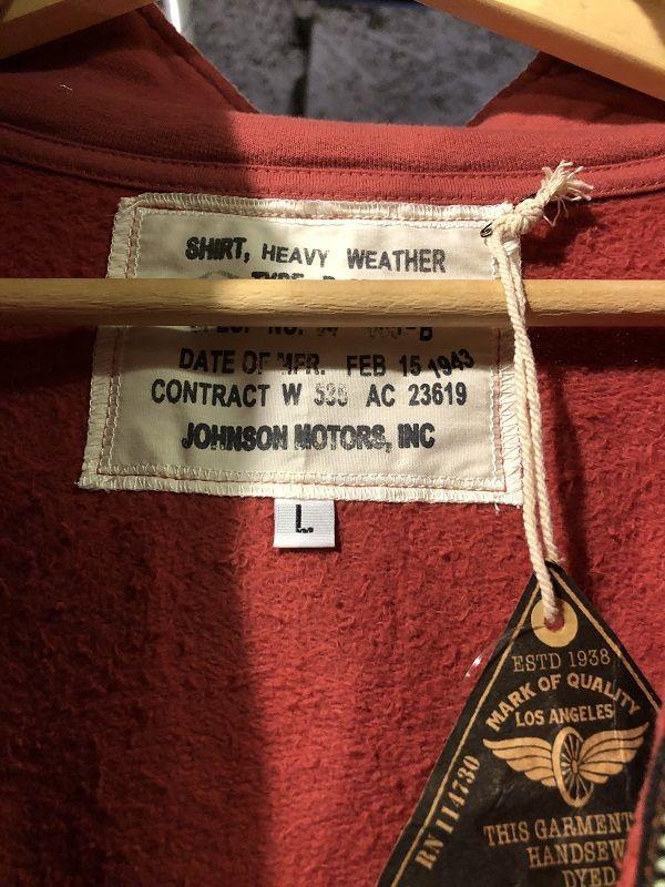 画像3: Johnson Motors'Inc FULL ZIP SWEATJOHNSON PASADENA RED
