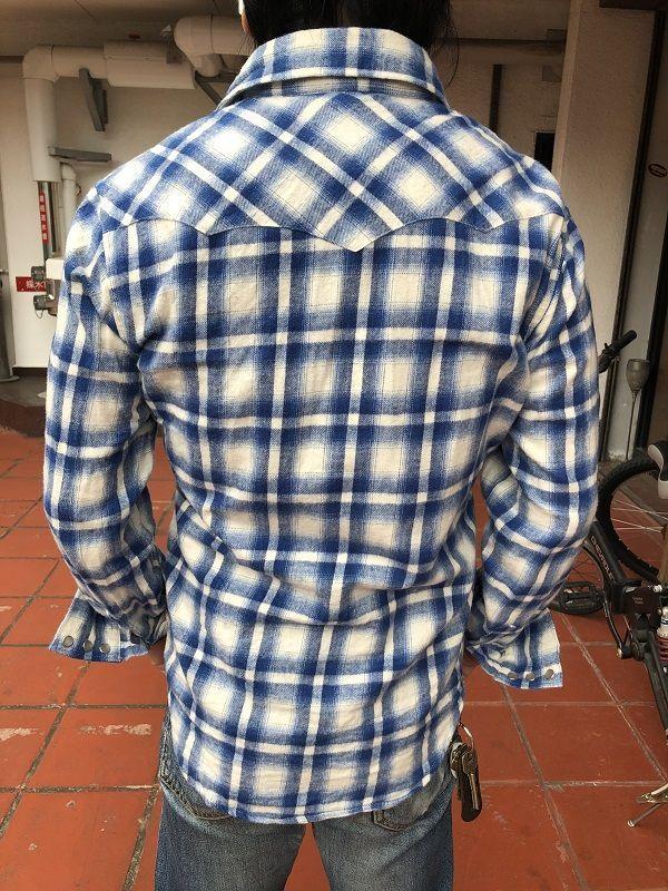 画像4: FULLNELSON フルネルソンオリジナル ウエスタンネルシャツ WHITE/BLUE