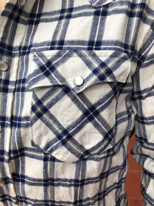 画像5: FULLNELSON フルネルソンオリジナル ウエスタンネルシャツ オフホワイト×ブルー